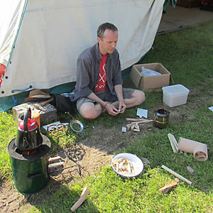 Rocket and wood gas stove workshop with Jonathan Rouse